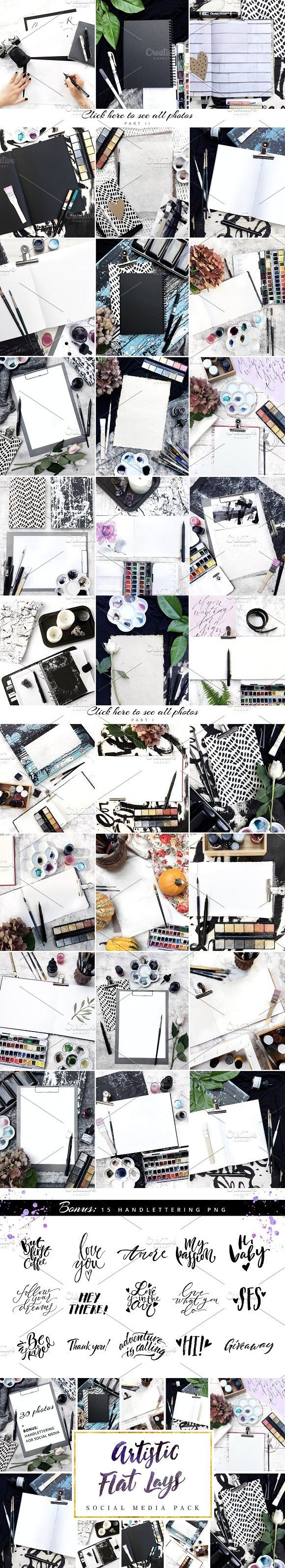 Art Flat Lays | Social Media Pack