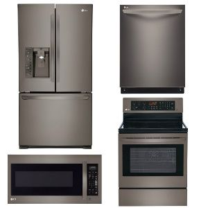 Package Lgbd1 Lg Appliance Package 4 Piece Appliance Package With Electric Range Black Stainless Steel Appliance Packages Lg Appliances Black Stainless Steel