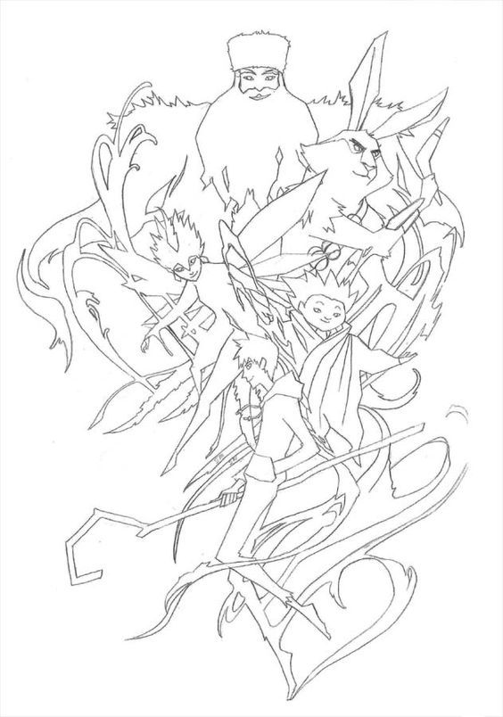 Sketch Dump of Rise of the Guardians coloring pages  Santa Tooth