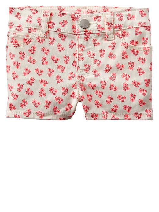 Gap | Floral denim shorts