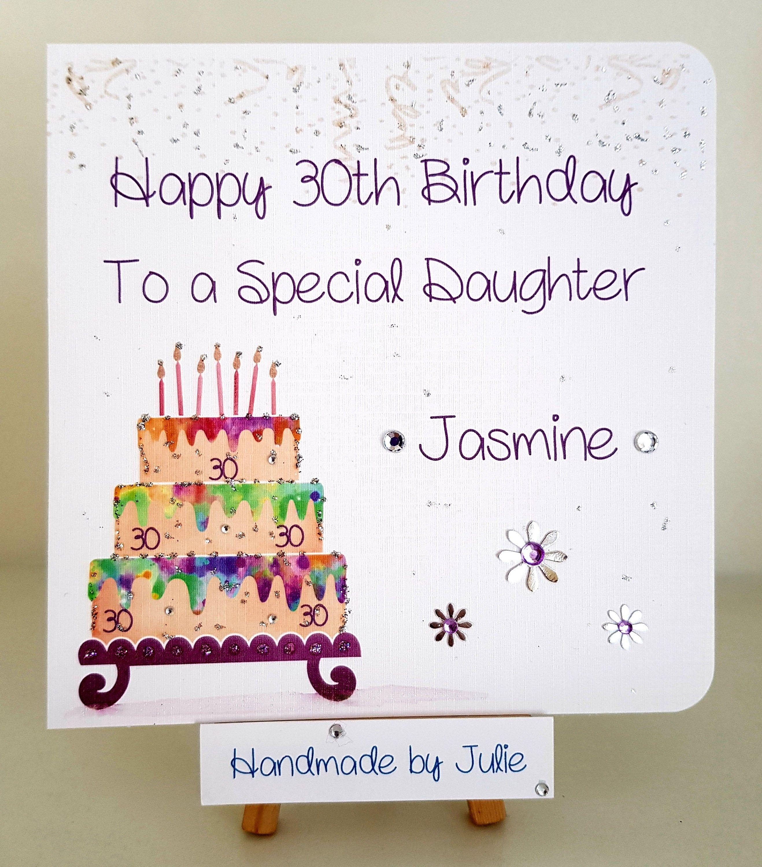 Handmade Personalised Birthday Card For Daughter Etsy Birthday Cards Handmade Birthday Cards 40th Birthday Cards