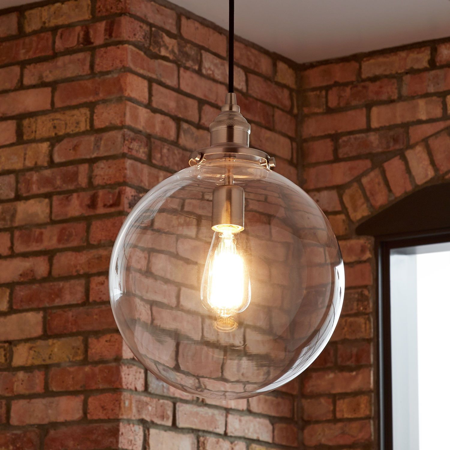 Orchard Pendant Light In Single Light In Polished Nickel In Clear