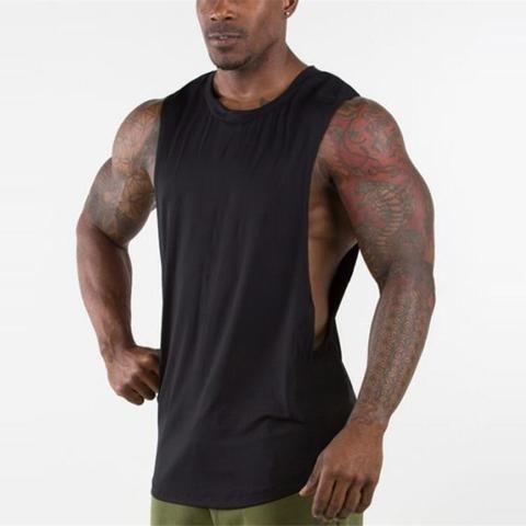 8e92c20708be Brand New Plain Tank Top Men Gyms Stringer Sleeveless Shirt Open Sides  Blank Fitness Clothing Cotton. Visit. February 2019