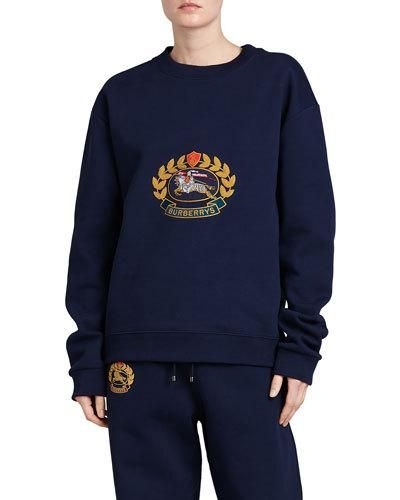 3e51a9ce45 Burberry Copes Crewneck Logo Crest Sweatshirt