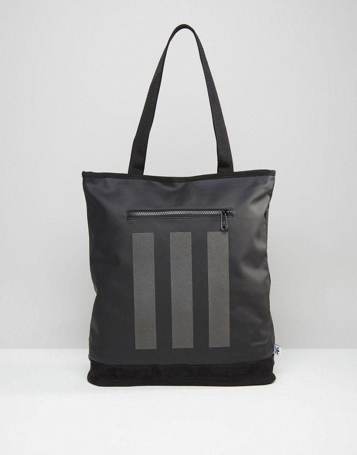 39985278a11 adidas Originals Tote Bag In Black AY8662   Men s Bags   Pinterest ...