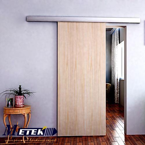 Cheap 6 6 ft aluminio granero deslizante puerta de madera for Puerta granero madera