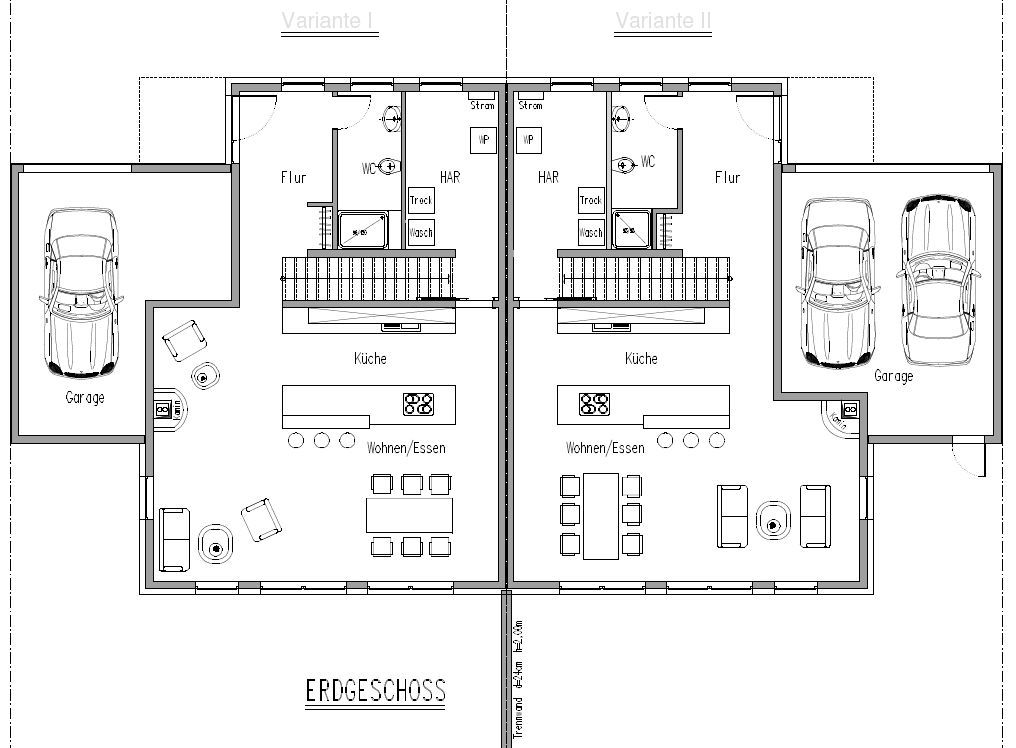 doppelhaush lfte eg gerade treppe house plan pinterest house. Black Bedroom Furniture Sets. Home Design Ideas