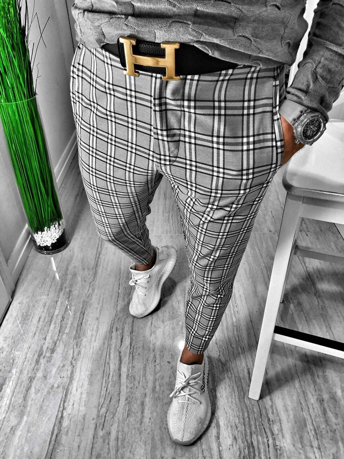 High Fashion Mens Skinny Track Pants Black Grey Side Strip Style Suit Pants Solid Hip hop Street Casual Pants Buy High Fashion Mens Skinny Track