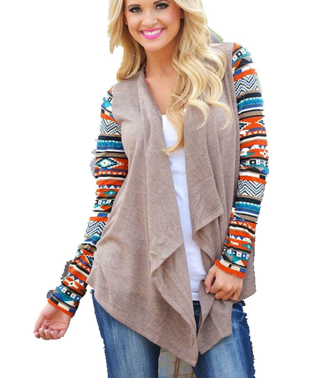 ee25b31628 Girltalkfashions Women Chuncky Leopard Print Long Sleeve Cardigan Copyright  at Amazon Women s Clothing store  Novelty Sweaters