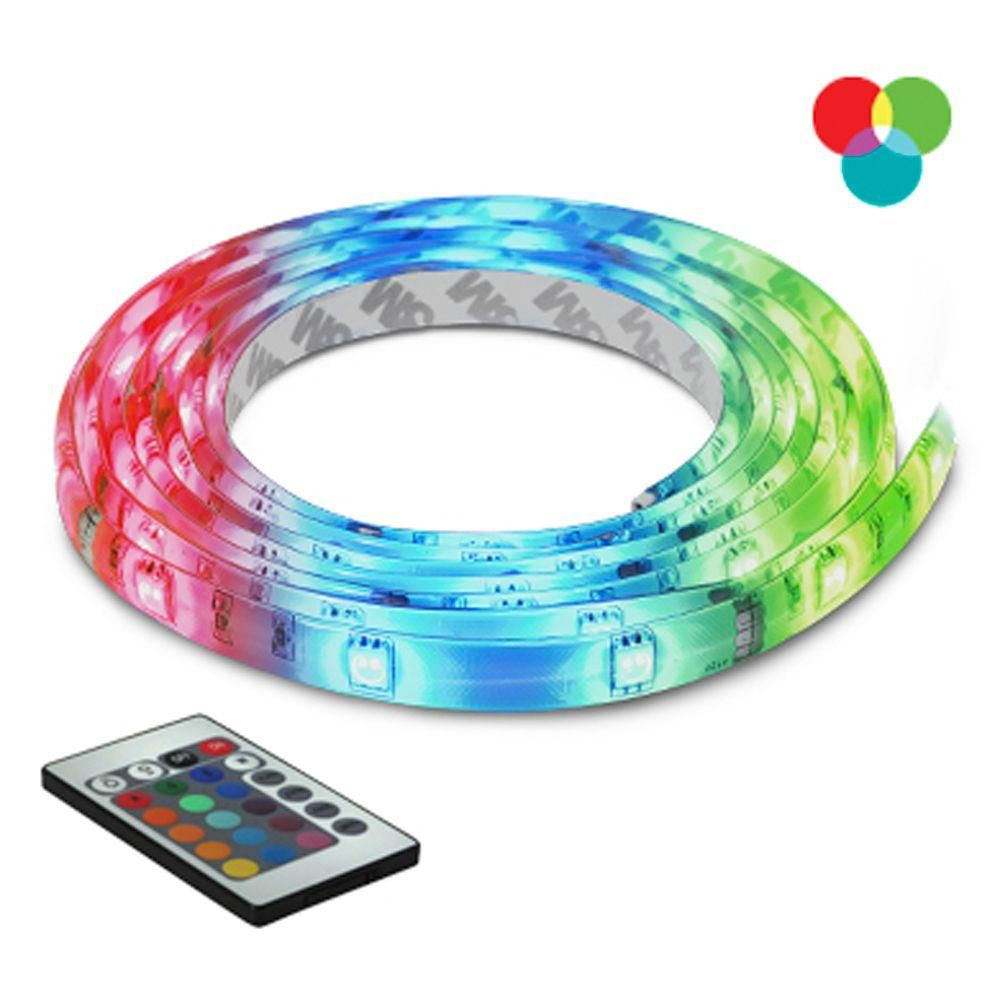 Led Strip Lights Home Depot Bazz 10 Ftmulticolor Selfadhesive Cuttable Rope Lighting With