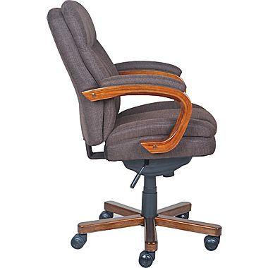 La Z Boy Faye Fabric Manager Chair Chocolate Staples Comfy Office Chair Chair La Z Boy Laz y boy office chair