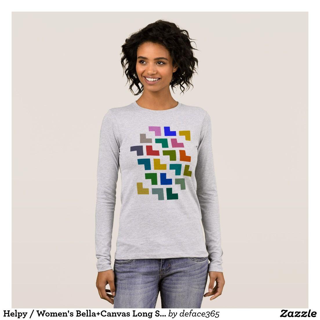 Helpy / Women's Bella+Canvas Long Sleeve TShirt Zazzle