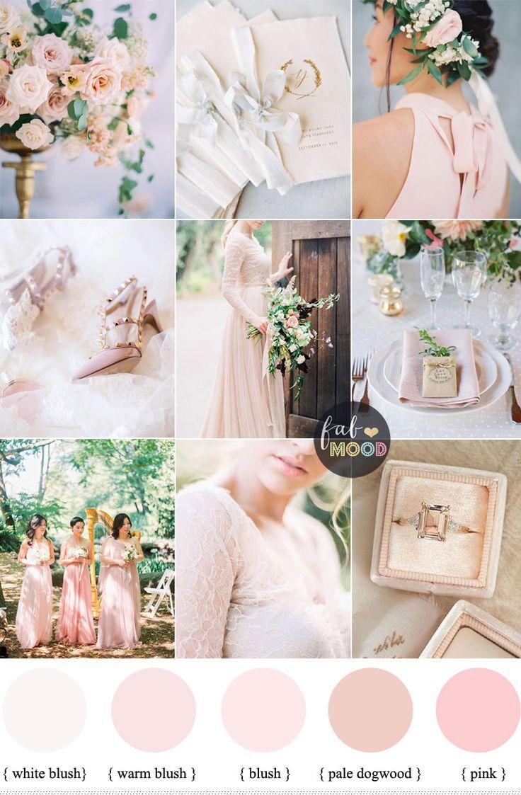 blush pink wedding theme 37 pretty blush pink color combinations