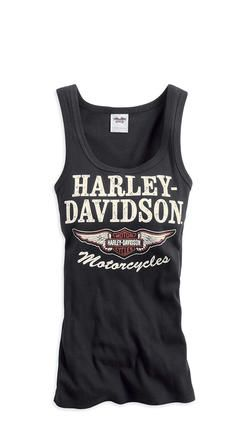 Ribbed Tank with Bikers Have More Fun Vintage Inspired Graphic