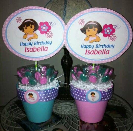 Dora Centerpieces Dora Birthday Party Ideas 2013 Pinterest