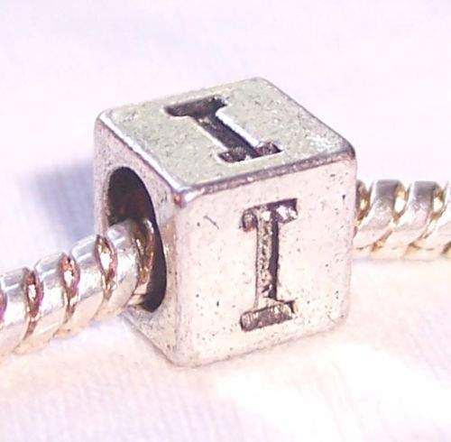 Iota Symbol Uppercase Greek Letter I Numeral Cube Bead For Euro