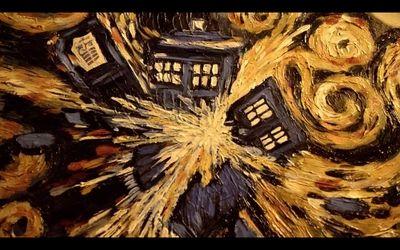 tardis vincent van gogh doctor who starry night 1920x1200 wallpaper Wallpaper HD