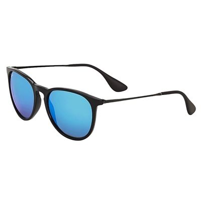 Óculos de Sol Ray Ban Erika Unissex Preto Lentes Espelhadas Azul -  RB4171L62255 226212ff3e