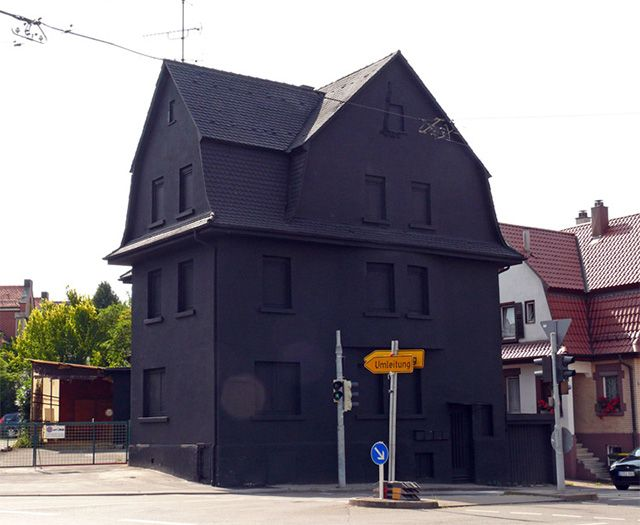 A Monochromatic Farewell To A Condemned House In Germany Houses In Germany Black House House
