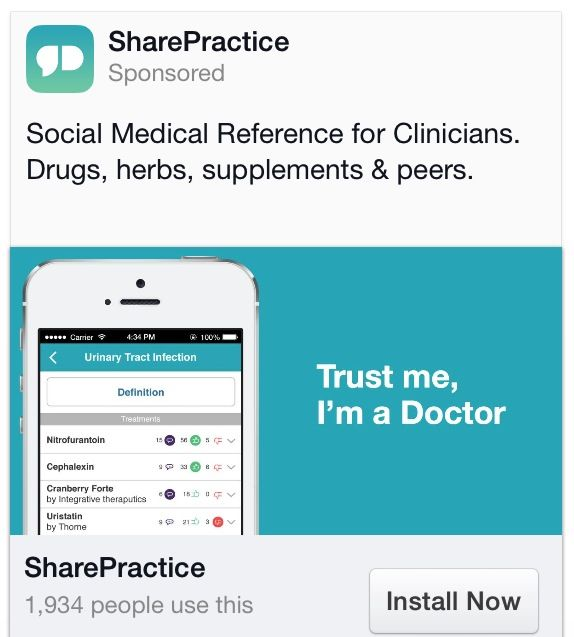Suggested Apps SharePractice - social media reference for