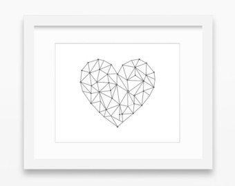 Heart Origami Grafic