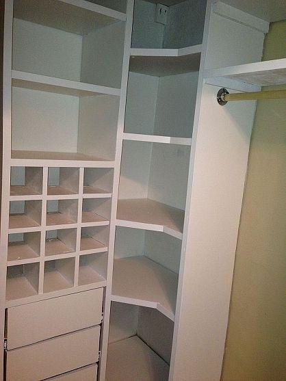 Closet Storage System Corner Unit Option