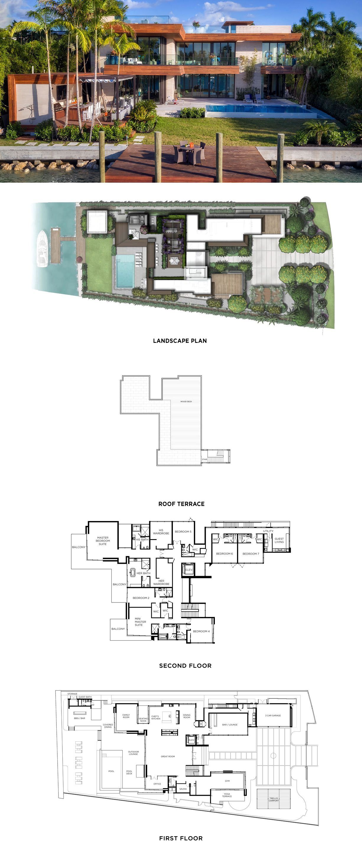 6440 North Bay Rord Miami House Outside Design Sims House Plans Modern House Plans