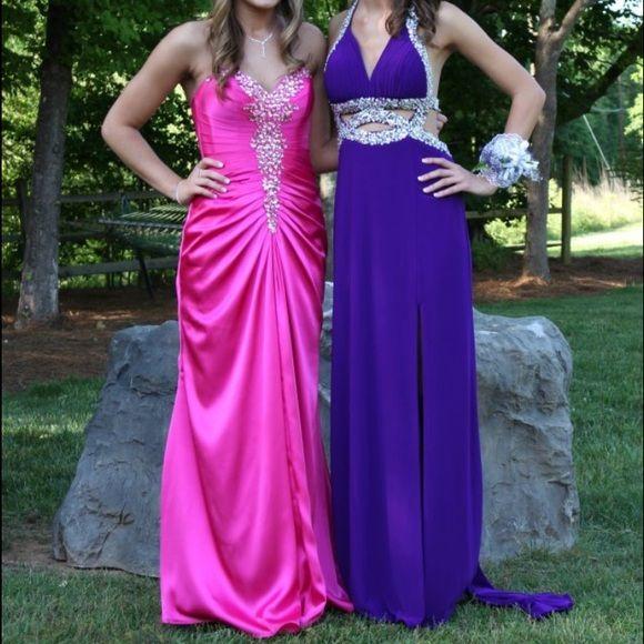 Purple Prom dress- open back Purple prom dress! Halter top with ...