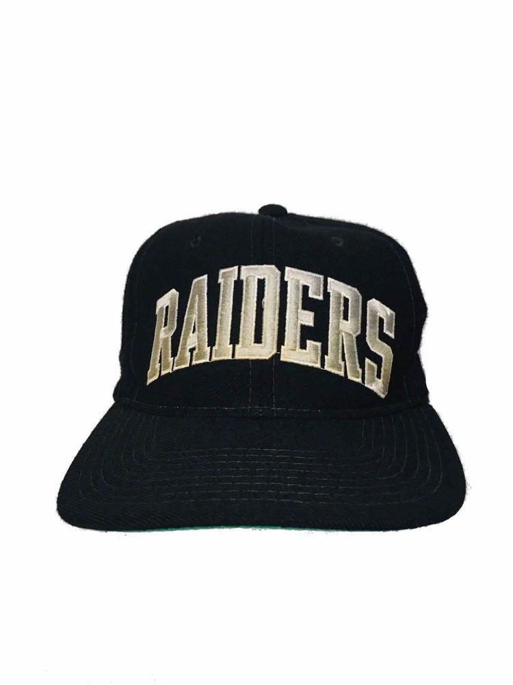 f716496e99c Vintage Raiders Arch 100% Wool Starter Hat 90s NFL Snapback Eazy E NWA  Black