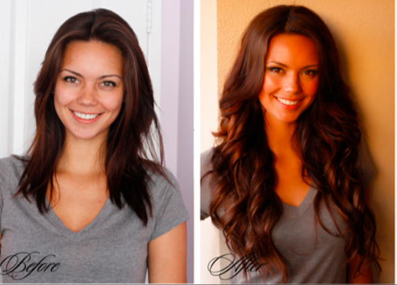 Before And After With Hair Extensions