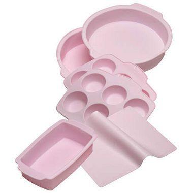 Kitchenaid Silicone Bakeware Set Pink 6 Pc Pink Kitchen
