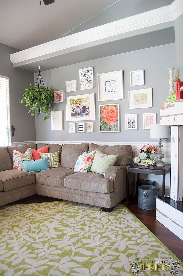 Coral And Green Great Room Reveal Part 33