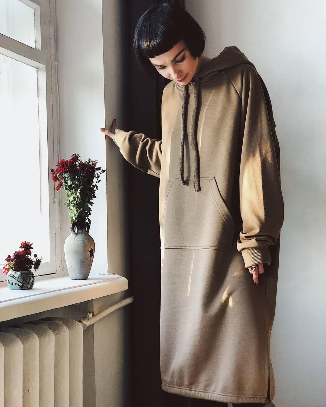 f2a8ddf7e27 Песочное платье худи - 1750 грн Dress hoodie -   105  хочусебетакое   хочусебетакое