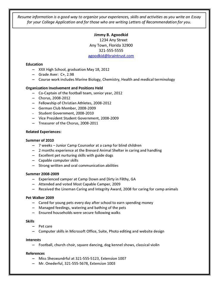 High School Student Resume For College More College Admission Resume Template Of 31 Well Desi Pendidikan