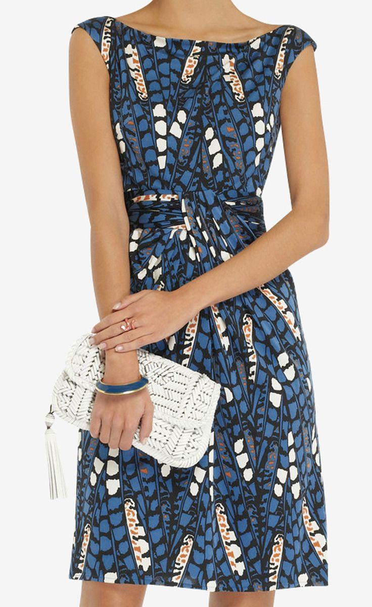 Issa Blue Dress Summer Work Dresses Fashion Pretty Dresses [ 1200 x 736 Pixel ]