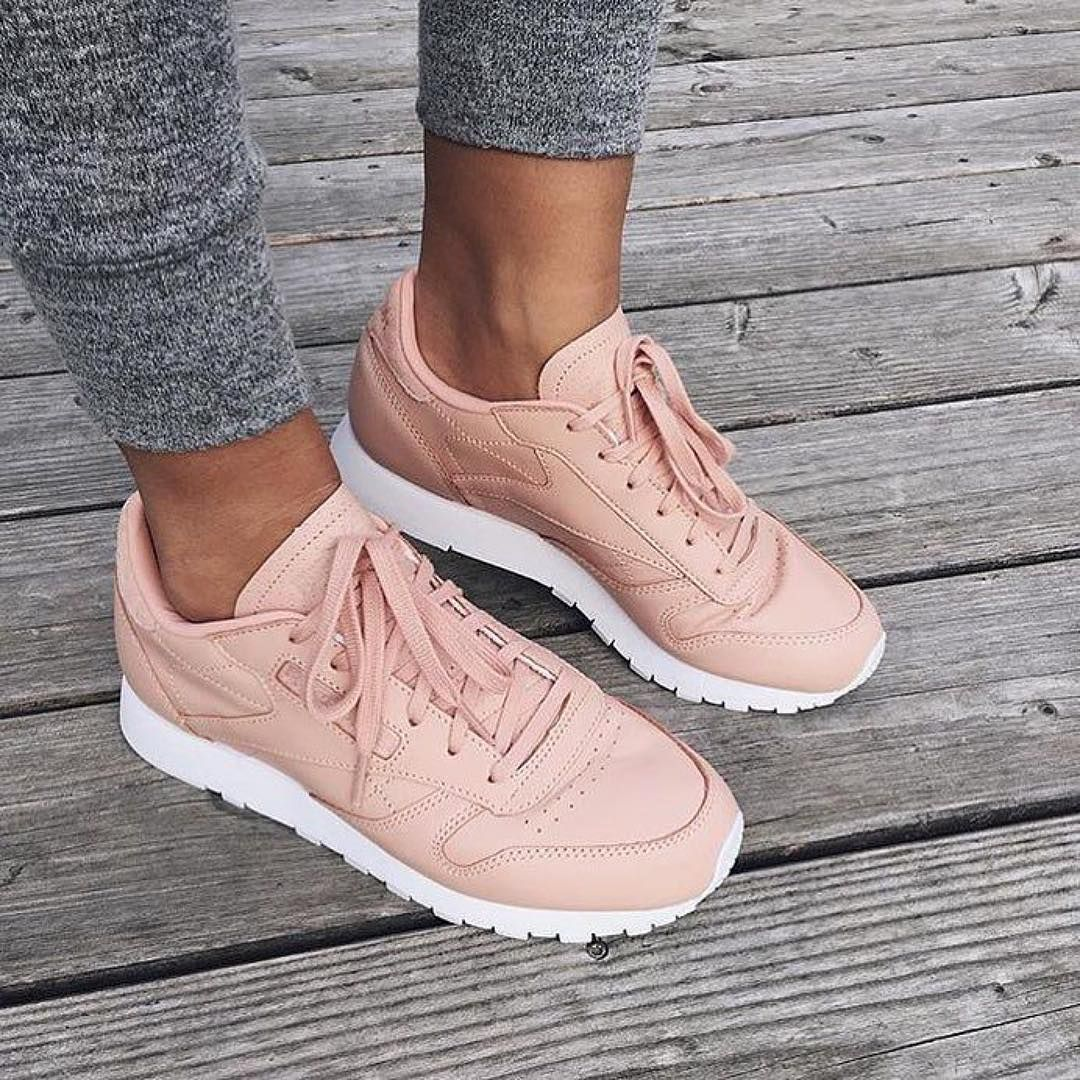 Baskets rose poudré reebok