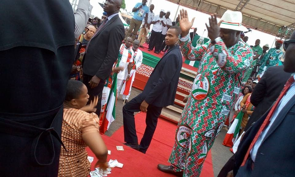 Enugu State Governor Gifts Physically Challenged Woman N1