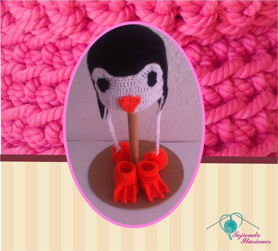 Modelo N°3: Gorrito y Zapatitos Pinguinos