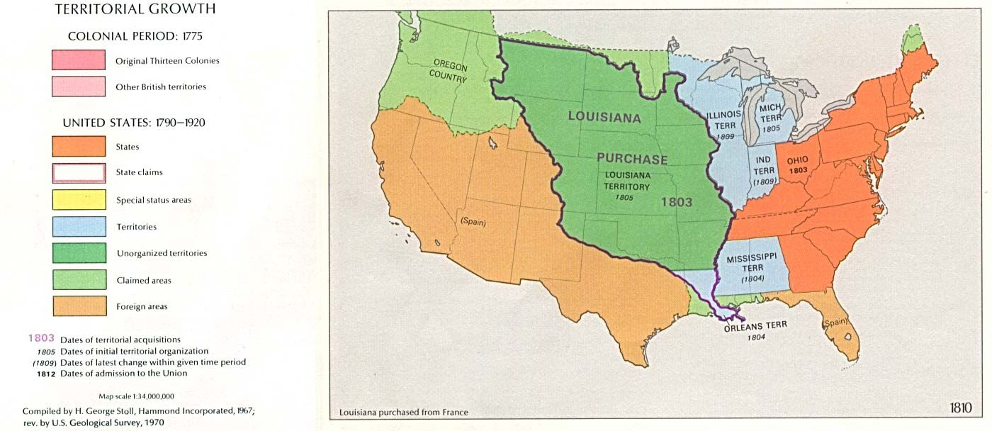 History Week Good Visual Of Louisiana Purchase Classical - Louisiana purchase and western exploration us history map activities
