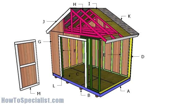 16 Fantastic Wooden Roofing Pergola Ideas 12x8 Shed