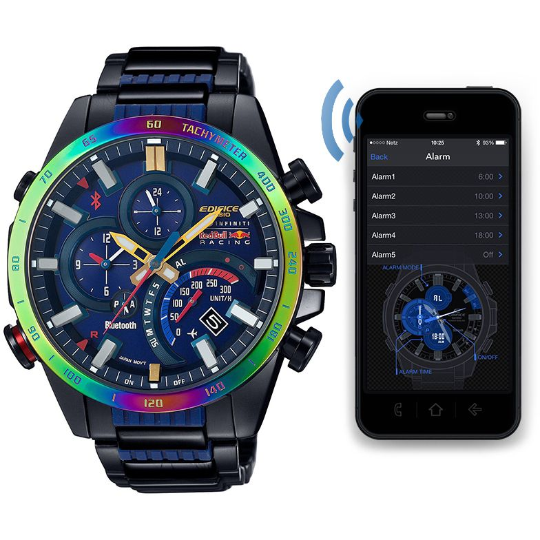 Edifice Red Bull Racing F1 Limited Edition Bluetooth Watch EQB-500RBB-2AER  Buy online or click and collect from our dedicated Casio Kiosk. 8b56f1905