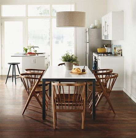 Parsons dining table, walnut Soren chairs - modern - dining room ...