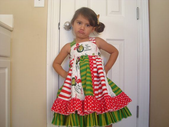 f1f441c5c81c The Grinch Dress by QueBellisima on Etsy, $80.00 | christmas ...