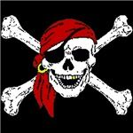 Pirate Skull on shirts and more.