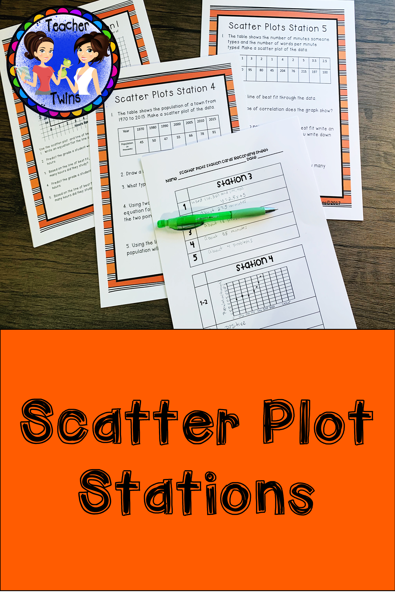 Scatter Plot Station Cards