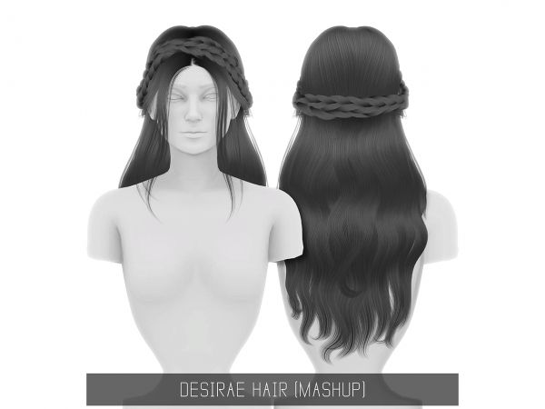 The Sims 4 Desirae Hair Sims 4 CC Sims 4, Sims 4