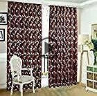 2m Semi Blackout Balcony Curtain Simple Vine Leaf Pattern Partition Window Decor ... - # 2 .....