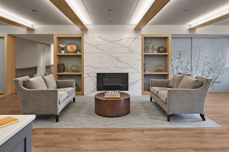 The Burnham Family Memory Care Residence At Avery Heights 0 Senior Living Interior Design Lobby Interior Design Interior Design