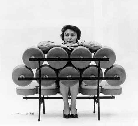A Herman Miller Advertisement Designed By Irving Harper For The Marshmallow  Sofa, 1956.
