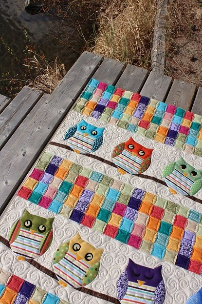 Whoo\'s Your Baby Quilt (Tamarack Shack)   Babydecken, Square und ...